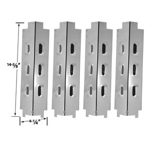 4 Pack Universal Stainless Steel Heat Shield for Master Chef Models 199-4758-2, 199-4759-0, 85-3004-2, 85-3005-0, Charbroil, Kenmore and Other Gas Models