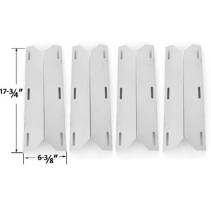 4 Pack Replacement Stainless Steel Heat Shield for Nexgrill 681955, 720-0074, 720-0093, 720-0096, 720-0101, 720-0145, 730-0512, 720-0145, 738505, 720-0026, 720-0061, 720-0062, 720-0063, 720-0093, 720-0096, 720-0099, 720-0100, 720-0101, 720-0138, 720-0139,