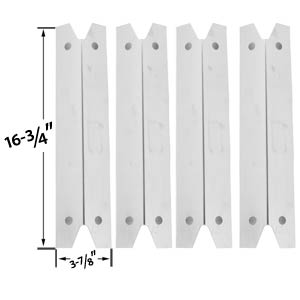4 Pack Universal Stainless Steel Heat Shield for for Grill Chef GC7550, Brinkmann, Charmglow & Members Mark GR3055-014684 Models Grill