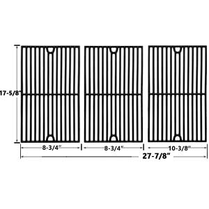 Cast Iron Replacement Cooking Grids For Brinkmann 7231, 810-1415F, 810-1470, 810-1470-0, 810-7231-W and Grill King 810-9325-0 Gas Grill Models, Set of 3