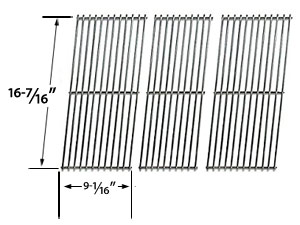 3 Pack Stainless Steel Replacement Cooking Grids For Jenn-Air JA460, JA461, JA461P, JA480, JA580, VC75A and nd Vermont Castings CF9050, CF9055 3A, CF9055 3B, CF9056, CF9080, CF9085, CF9085 3A, CF9085 3B, CF9086, Experience, Extreme Built-in Gas Grill Mode