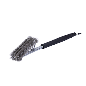"18""- 3 in 1 Stainless Steel Brushes - Heavy Duty Barbecue Cleaner Tools, Perfect for Weber Charcoal, Charbroil, Gas, Electric, Smoker & Infrared BBQ Grills + Nylong Bag"